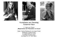 Salon Einladung Gast Cristina Wiedebusch Hans Jürgen Küster