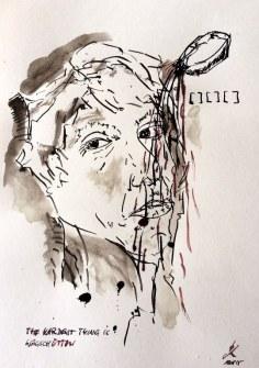Weggegossen No. 20 b (c) Zeichnung von Jürgen Küster