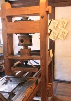 Nachbau der Hochdruckpresse Dürers (c) Foto von Susanne Haun