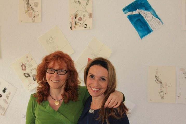 Nach getaner Arbeit Susanne Haun und Cristina Wiedebusch (c) Foto von Jürgen Küster