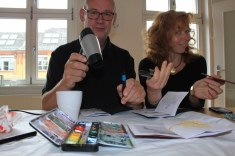 Jürgen Küster bei der Arbeit (c) Foto von Susanne Haun