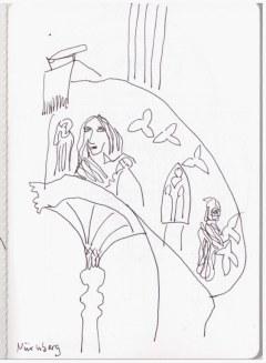 Kanzel Lorenzkirche Nürnberg (c) Zeichnung von Susanne Haun