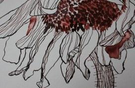 Detail Sonnenblume - 30 x 40 cm (c) Zeichnung von Susanne Haun