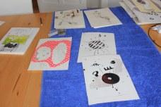 Hängen der Ausstellung Wegschütten (c) Foto von Susanne Haun
