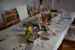 Impressionen von der Ausstellung Wegschütten - Atelieratmosphäre (c) Foto von M.Fanke
