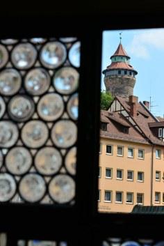 Ausblick aus dem Fenster des Dürerhauses (c) Foto von M.Fanke