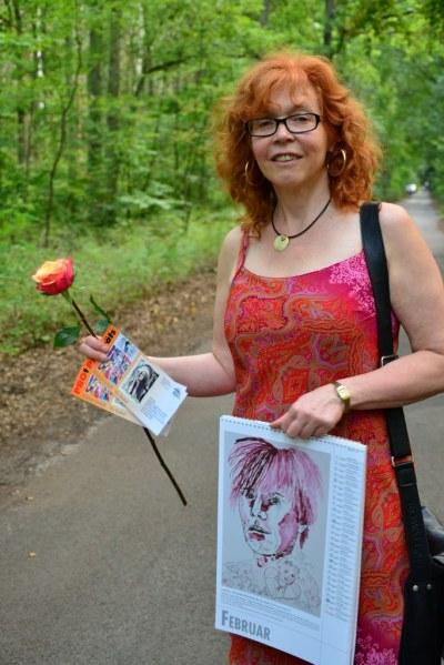 Susanne Haun auf dem Rückweg zum Auto (c) Foto von M.Fanke
