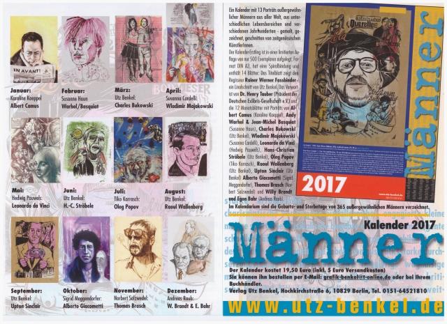 Kalender 2017 Männer - Verlag Utz Benkel