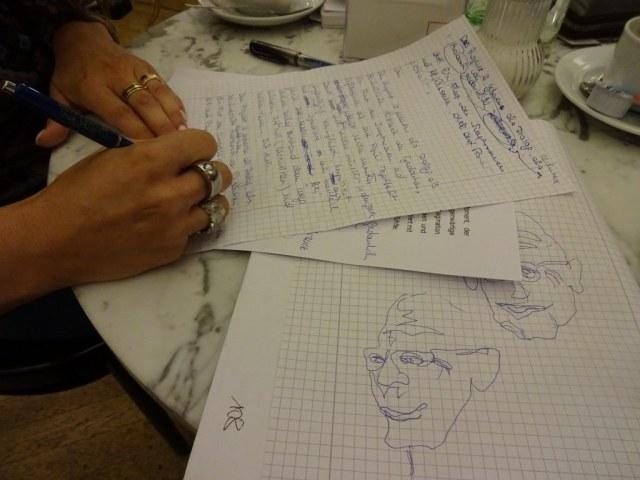 Skizze und Text von Cristina Wiedebusch und Susanne Haun