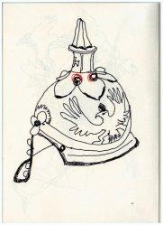 Skizze Helm Bismarck (c) Zeichnung von Susanne Haun