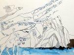 5 Entstehung Ein Silaaq wie ein Karibu - 30 x 40 cm - Tusche auf Aquarellkarton Britannia (c) Zeichnung von Susanne Haun