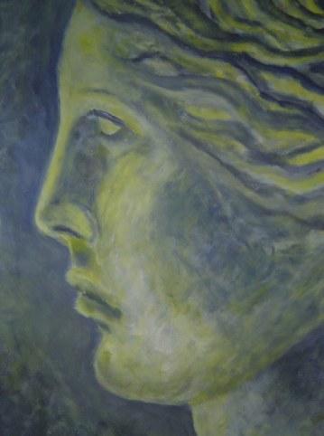 Aphrodite Version 2 - 50 x 70 cm - Acryl auf Tonkarton - 2001 (c) Gemälde von Susanne Haun