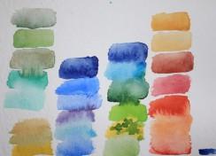 Aquarellkasten und Farbkarten (c) Susanne Haun