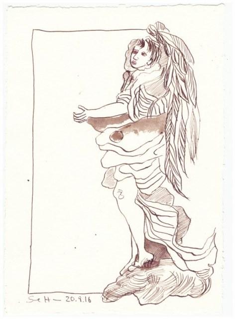 Ein dritter Engel für Mama (c) Zeichnung von Susanne Haun