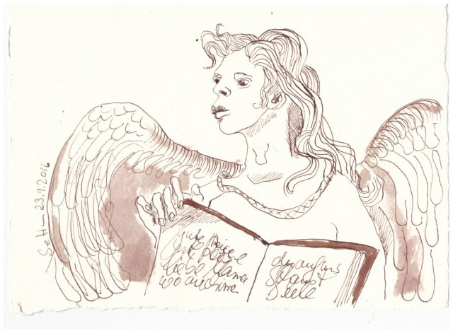 Ein Engel für Mama (c) Zeichnung von Susanne Haun