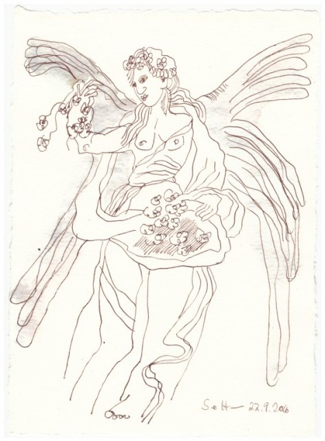 Ein zweiter Engel für Mama (c) Zeichnung von Susanne Haun