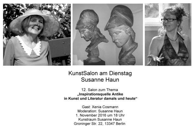 KunstSalon bei Susanne Haun - Einladung Gast Xenia Cosmann