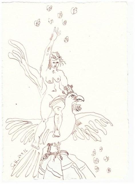 Sehnsucht und Erkenntnis (c) Zeichnung von Susanne Haun