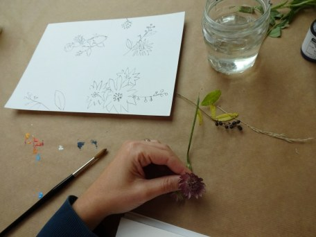 Kompositionsstudien der Schülerinnen (c) Foto von Susanne Haun