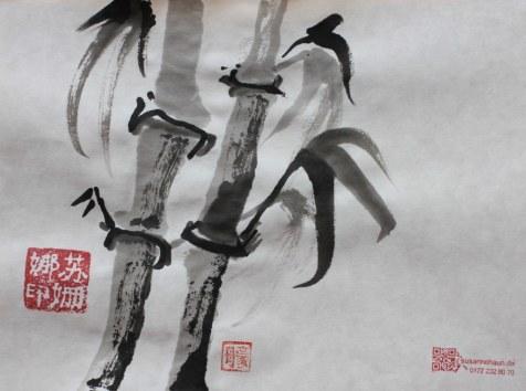 Bambus (c) Zeichnung von Susanne Haun