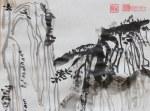 Chinesische Berge - 24 x 32 cm sumi - e Papier (c) Zeichnung von Susanne Haun