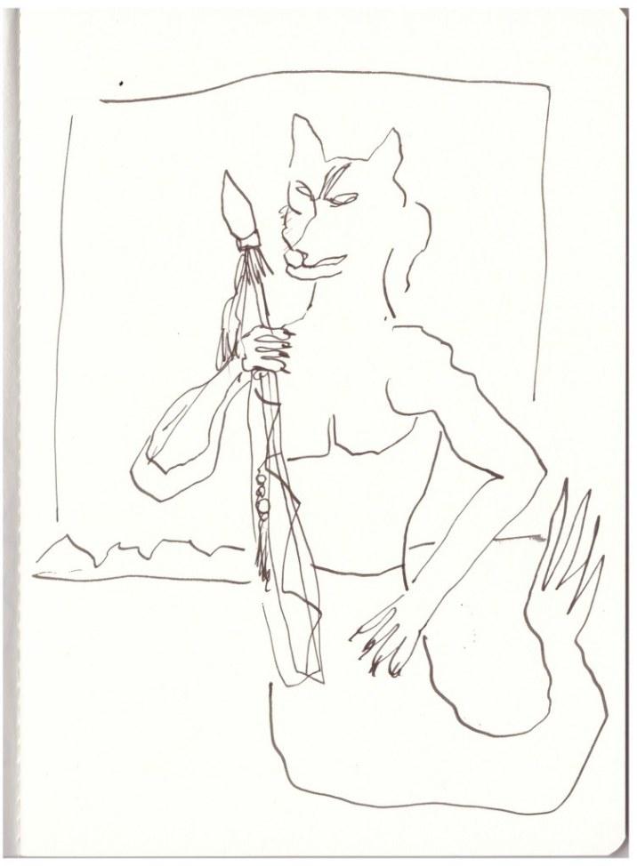 Skizze Hundemann (c) Zeichnung von Susanne Haun