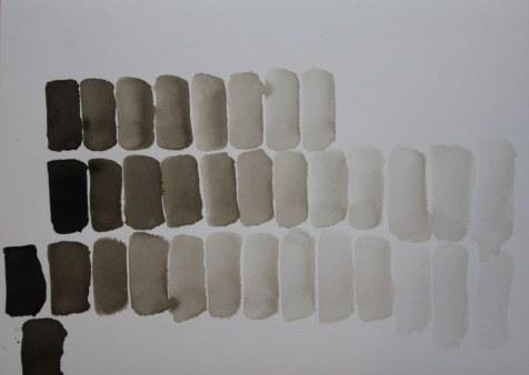 1 Tonwerttabelle Sepia Tusche (c) Zeichnung von Susanne Haun