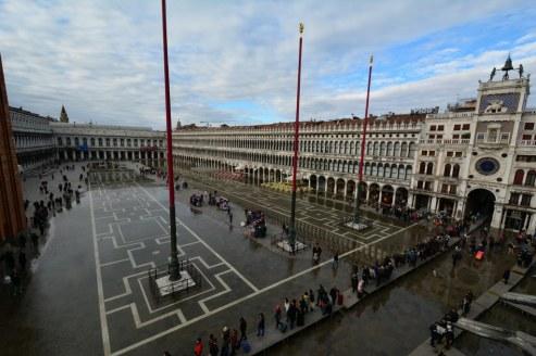 11 Acqua Alta auf dem Markusplatz in Venedig (c) Foto von M.Fanke