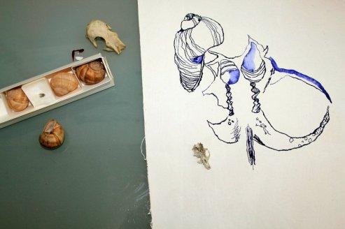 3 Abstrakte Naturform (c) Zeichnung von Susanne Haun