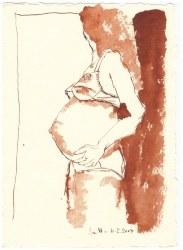 3 Weihnachtsangebot Schwanger (c) Zeichnung von Susanne Haun