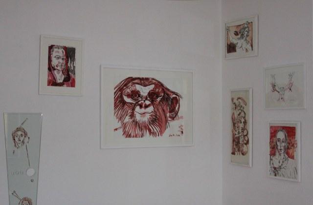 ängung Arbeiten Susanne Haun im Galerieraum (c) Foto von Susanne Haun