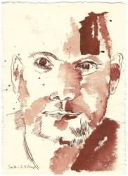 5 Weihnachtsangebot Portrait - Mann (c) Zeichnung von Susanne Haun