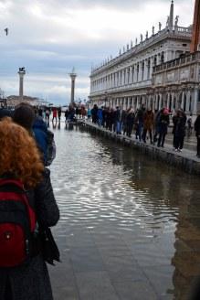 8 Acqua Alta auf dem Markusplatz in Venedig (c) Foto von M.Fanke