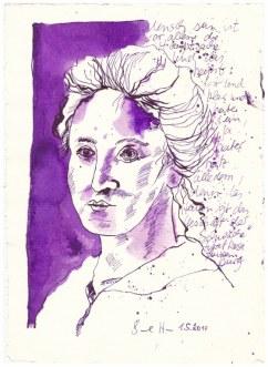 9 Weihnachtsangebot Rosa Luxemburg - Mensch sein(c) Zeichnung von Susanne Haun