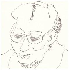 Portrait Fingerübungen (c) Zeichnung von Susanne Haun