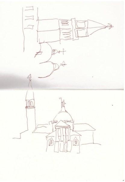 3 Venedig - Blick auf S. Giorgio (c) Zeichnung von Susanne Haun