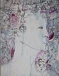 9 Erinnerung im Gestern - 60 x 80 cm - Tusche auf Leinwand (c) Zeichnung von Susanne Haun