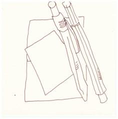 Samstag Morgen - Stifte (c) Zeichnung von Susanne Haun