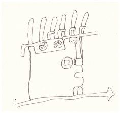 Schwere Maschinen (c) Zeichnung von Susanne Haun