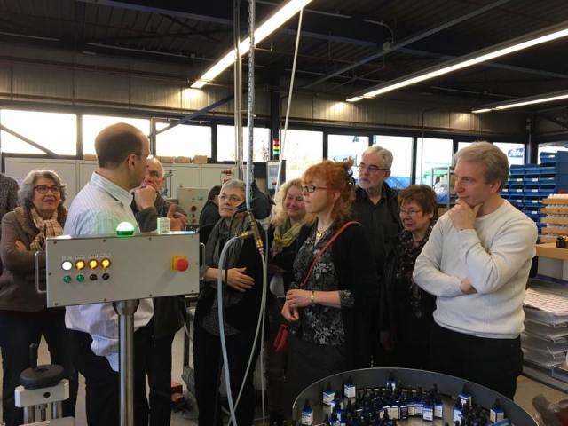 Betriebsführung bei Schmincke (c) Foto von Susanne Goch - Schmincke