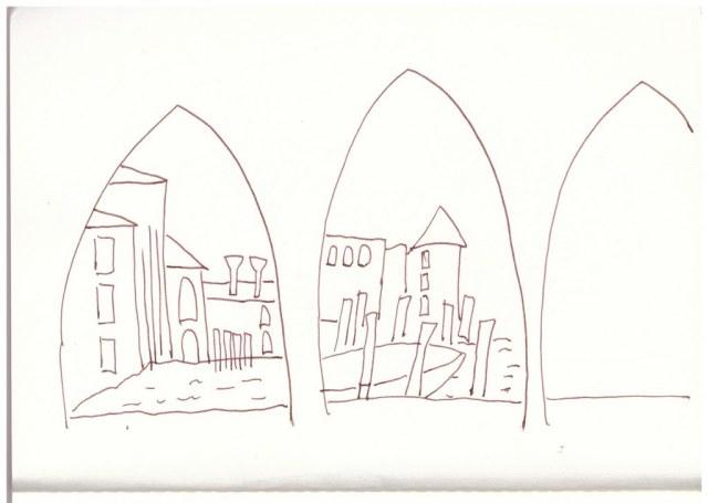 13 Venedig 2. Skizzenbuch (c) Zeichnung von Susanne Haun
