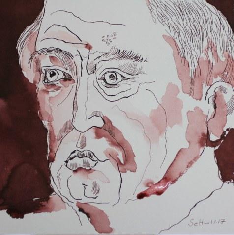 3 Meine Vorstellung von Seneca - Version 2 - 25 x 25 cm (c) Zeichnung von Susanne Haun