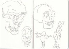 Im Neanderthal Museum (c) Zeichnung von Susanne Haun