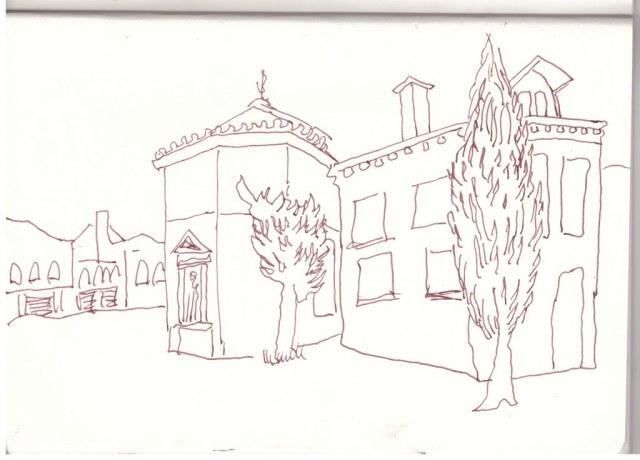7 Venedig 2016 (c) Zeichnung von Susanne Haun