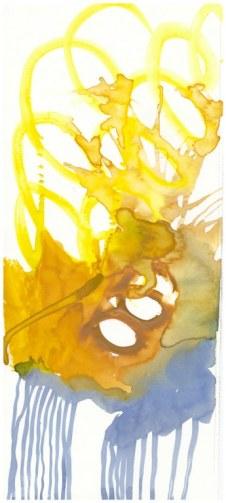 1 Farben - Dessen Füsse er mit Eisenzange kopfüber hielt - Tusche und Aquarell auf Büttenpapier - Version 1 (c) Zeichnung von Susanne Haun