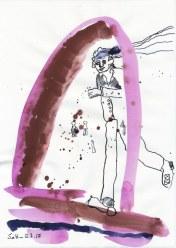 #3-2 Entrada Version 2 - 20 x 30 cm - Tusche und Aquarell auf Zeichenpapier (c) Zeichnung von Susanne Haun