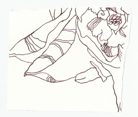 Blumen Fragment (c) Zeichnung von Susanne Haun