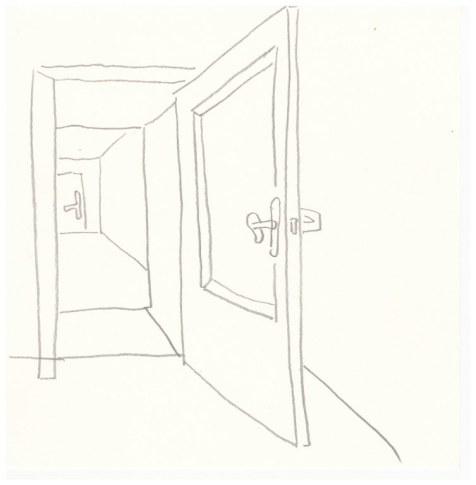 Die Tür in den Raum (c) Zeichnung von Susanne Haun