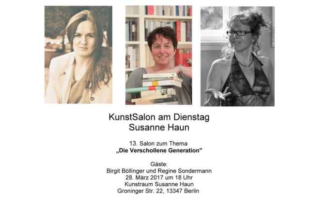 Salon Einladung Gast Birgit Böllinger und Regine Sondermann