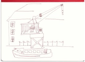 Tempelhofer Hafen - Berlin (c) Zeichnung von Susanne Haun